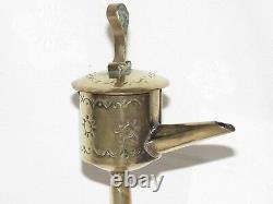 12d4 Ancienne Baleine Oil Lamp Antwerpen Popular Art Flandre XIX E