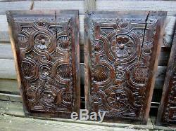 16th Century Panels In Oak. Haute Époque, Restoration, Decoration