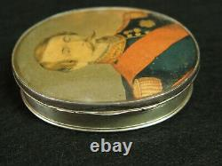 19th Boite And Son In Argent And Ecaille Medaillon Portrait Napoleon III Do Main