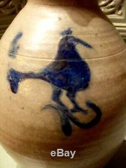 Alsace Rare Folk Art Pottery Pitcher Gravee Gres Salt Betschdorf Nineteenth