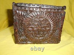 Ancien Coffret 1723 XVIII Eme 18e 18th Hollandais Art Populaire Old Holland Box