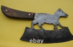 Ancien Cupperet Hachoir Zoomorphe Old Butcher Knife Fox Axe Tool