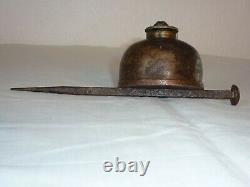 Ancienne Rare Astiquette De Miner Du Nord De La France / 1880 / Collection