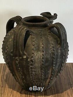 Anciennne Jug Oil Périgord Glazed Terracotta Art Popular 18-19th