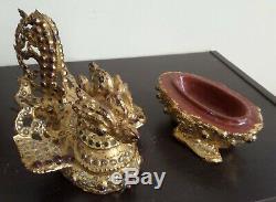Ancient Burmese Lacquer Gilt Offering Hinta Hsun Ok Golden Lacquered Burma Burma