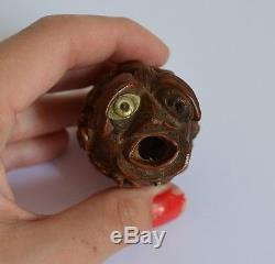 Ancient Carved Corozo Nut Nineteenth Work Of Marin Or Bagnard Erotic