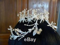 Ancient Crown Of Mary Diadem Flowers Wax Fabrics Wax Crown Wedding