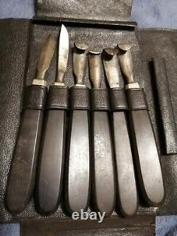 Ancient Leather Iron Marshal Vet Kits