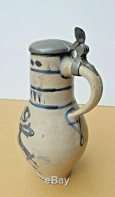 Animal Pitcher, Westerwald Salz Glazed Sandstone, 18th Century