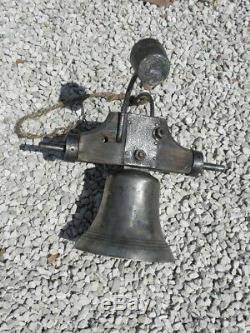 Antique Bell Bronze Of Schoolhouse Castle Chateau Xixth Century