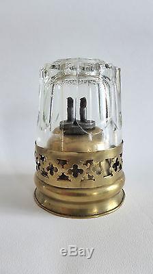 Antique Brass Lamp Smoking Chinese (op War) 19th Century # 7