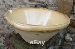 Antique Glazed Pottery Kitchenware Tian Yellow Glazed Terracotta