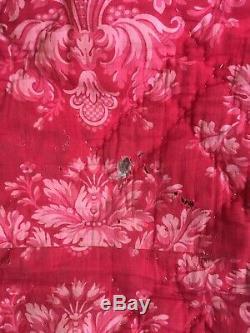 Antique Nap Napi III Stitched Fabric Cover Antique Victorian Fabric