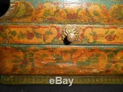 Arte Povera Box Box To Wig Couture 18th Ancient Wig Box Folk Art