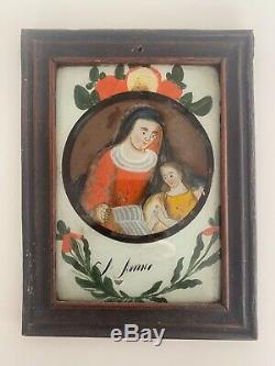 Attached Table Coaster Xviiith Xixth Sainte Anne Folk Art Religious