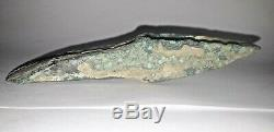 Ax Heel And Norman Bronze Type Triangular Blade Green Patina