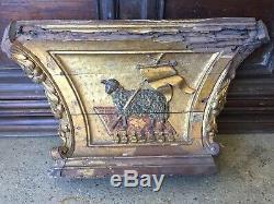 Bas Relief Carved Woodwork, Chapel Hospital, Golden Wood XVIII