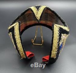 Beautiful And Ancient Headdress Savoyard Dite Frontier Costume Old Folk