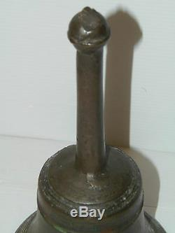 Beautiful Big Bell Hand Medieval Bronze Bell Seventeenth Collection Showcase