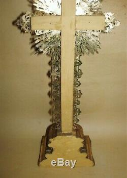 Beautiful Jansenist Crucifix Gilded With Gold Leaf Epoque Louis-philippe