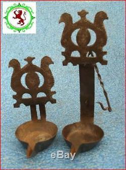 Beautiful Oil Lamp Birds Chaleil Wrought Iron