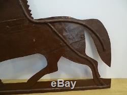 Beautiful Old Horse Vane Horse Center Equestrian Farm Iron Popular Art