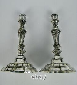 Beautiful Paire Flambeaux XVIII Regence Bronze Candlestick Chandeliers