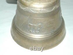 Belle Cloche Sonnailles Of Vache Ancienne Bronze Collier Cuir Deco Barn Juice