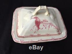 Belle Rose Soap Box Set Of Old Toilet Gien Birds Fly