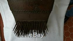 Big Board Carder Dated To 1860 Oak Carved Folk Art Britain Tool
