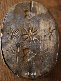 Box Little Old Wedding Eme XIX Centuries Folk Art Carved