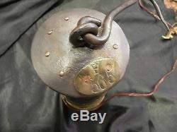 Brass Lamp Miner Glass Baccarat Mine St Etienne