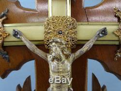 Bridal Globe Crucifix Jesus Napoleon III Blown Glass Cabinet Of Curiosity