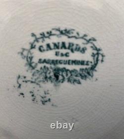 Broc Toilet Old Nineteenth Louis Philippe Sarreguemines U & C Ducks Green