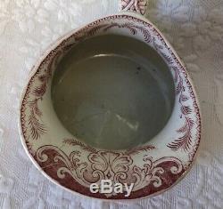 Broc Toilet Old Nineteenth Louis Philippe Sarreguemines U & C Ducks Rose