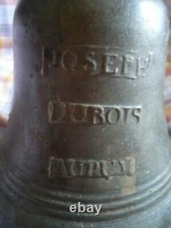 Bronze Chapel Or School Bell Joseph Dubois In Puy 18th