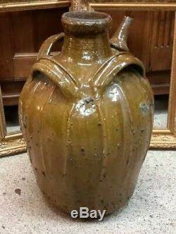 Buire Ancient Pottery Auvergne H 44 CM Vernisée Popular Terracotta Pot Art