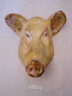 Butcher's Shop Charcuterie / Cast Iron Pig Head