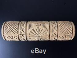 Butter Roll In Carved Wood Object Of Folk Art Tool Late Nineteenth