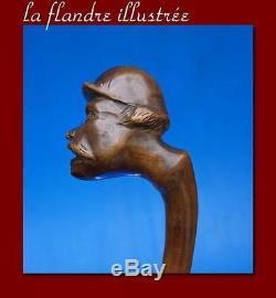 Cane Of Folk Art To Grotesque Stick Bastoni