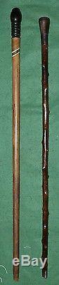 Cane With Old System Writer Public Folk Art Vintage Baradelle Cane