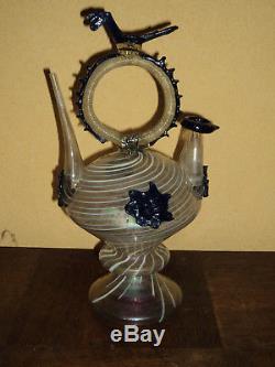 Cantir Botijo glass Latticini Spain Catalonia Early Eighteenth High Era