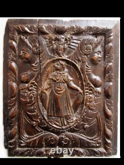 Carved Wooden Panel Characters - Eagle. High Epoque