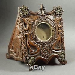 Case Wood Sculpted Popular Art End Nineteenth 26 X 19.5 CM