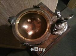 Cassolette Bronze Silver Nineteenth