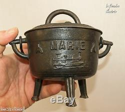 Cauldron Cast Conches Dedicatory Marie And Dated 1894 Locomotive