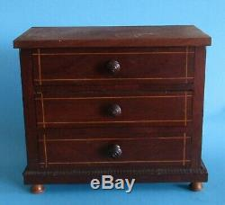 Chest Old Furniture Control Miniature 3 Drawers