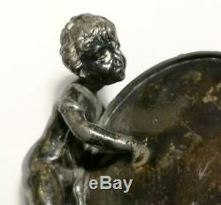 Children Shape With Drum. Silver Plated. Main. Twentieth Century