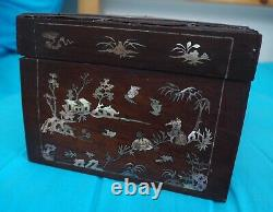 China Large Mother Of Pearl Inlayed Wood Box China Large Mother Of Pearl Inlayed Wood Box