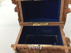 Cigar Cellar Box Work Black Foret Decor Sheep Branching Chalet 19th